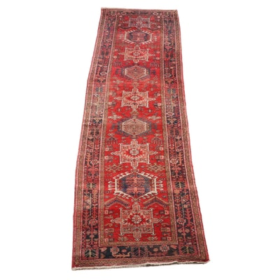 3'8 x 14'10 Hand-Knotted Persian Karaja Wool Long Rug