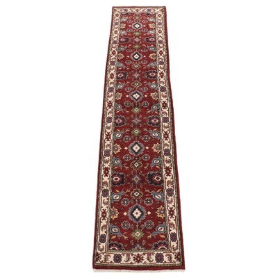2'8 x 12'4 Hand-Knotted Indo-Persian Mahal Runner Rug, 2010s