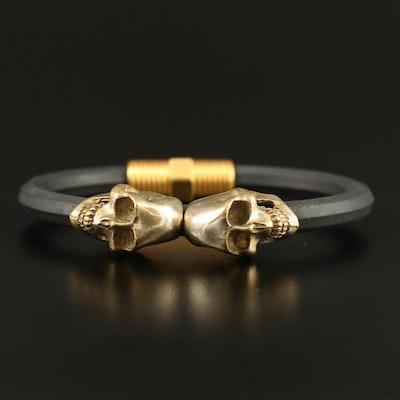 Elena Estaun Double Skull Bracelet