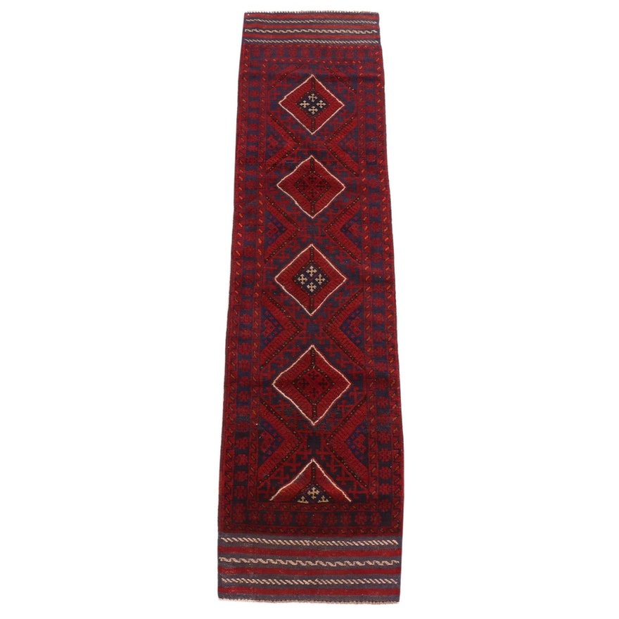 2'1 x 8'7 Hand-Knotted Afghani Turkoman Runner Rug, 2000s