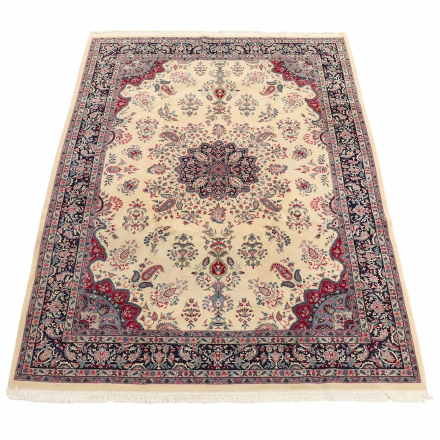 8'3 x 11'9 Hand-Knotted Sino-Persian Lavar Kerman Room Sized Rug, 2000s