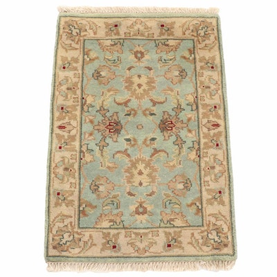 2'2 x 3'3 Hand-Knotted Indo-Turkish Oushak Rug, 2010s