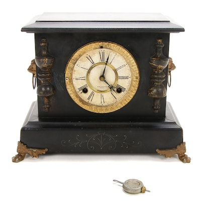 New Haven Clock Company Mantel Clock, Late 19th Century