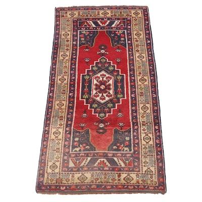 4'3 x 8'8 Hand-Knotted Turkish Yuksel Hali Taspinar Wool Rug