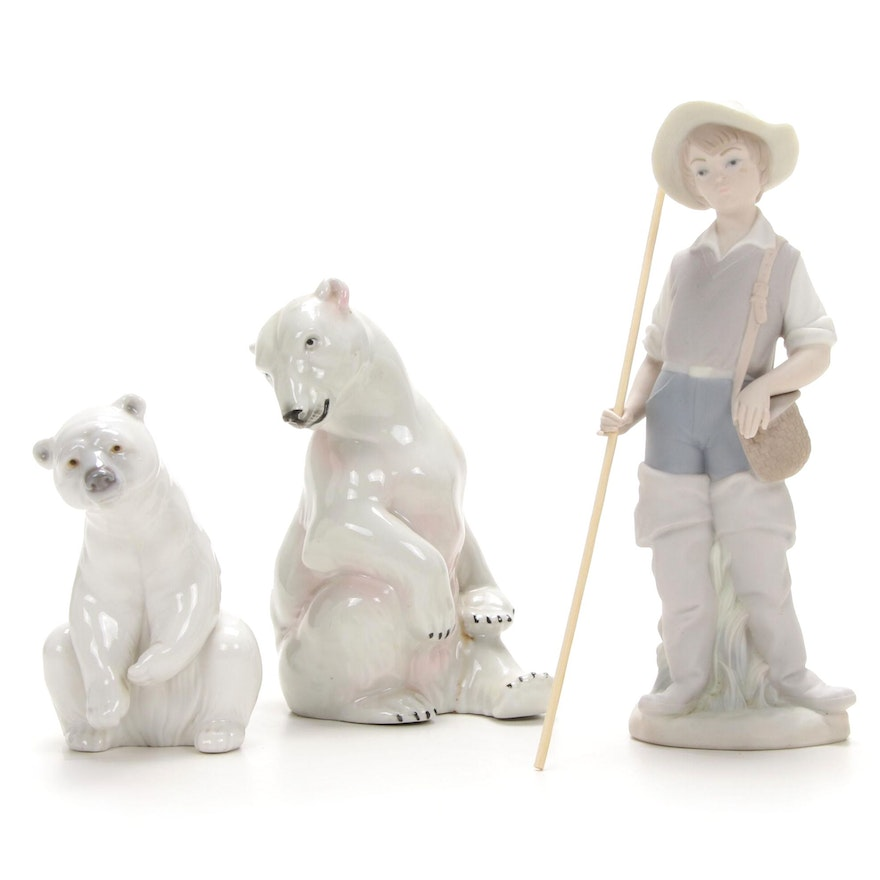 Lladró, and Wagner & Apel Porcelain Figurines, Late-20th Century