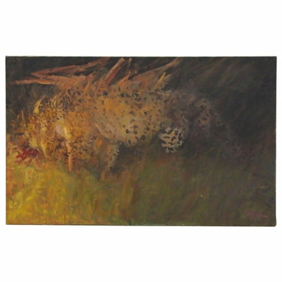 Charles Vance Brand Abstract Oil Painting