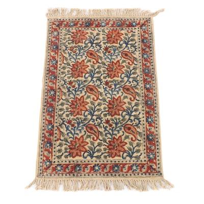 2'0 x 4'2 Handwoven Indian Dhurrie Kalamakari Floral Rug
