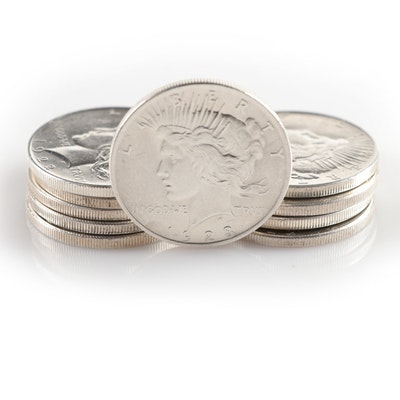 Ten Peace Silver Dollars
