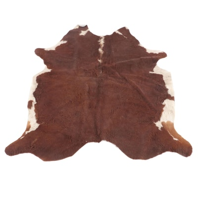 6'6 x 7'1 Natural Cowhide Area Rug