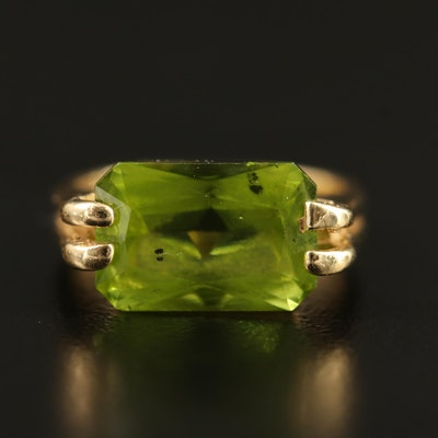 14K Peridot Ring