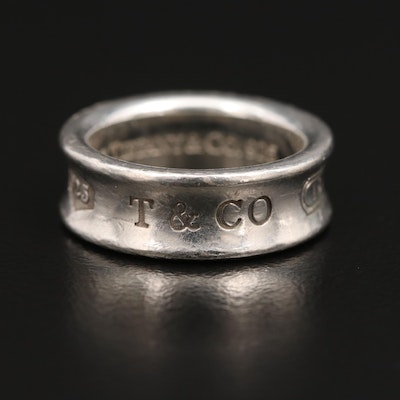 """Tiffany & Co. """"1837"""" Sterling Silver Concave Band"""