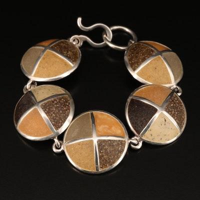 David Urso Sterling Silver Link Bracelet