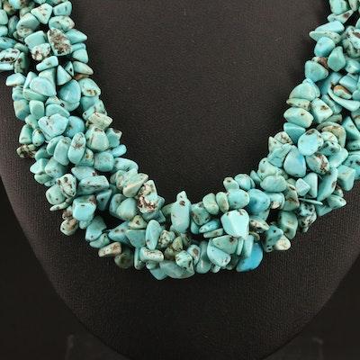 Magnesite Collar Necklace