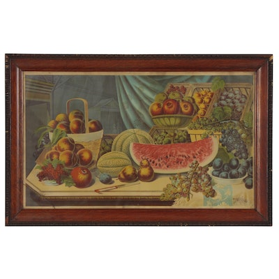 Lithograph of Still Life With Fruit, Early 20th Century