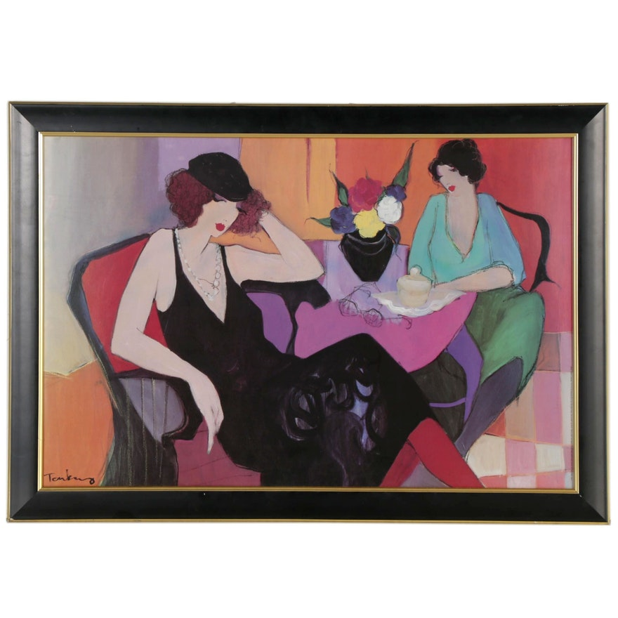 """Offset Lithograph after Itzchak Tarkay """"Maria & Susie,"""" 1991"""