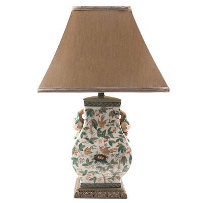 Currey & Company East Asian Style Table Lamp with Quince Accents, 2003