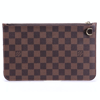 Louis Vuitton Neverfull Pouch in Damier Ebene Canvas