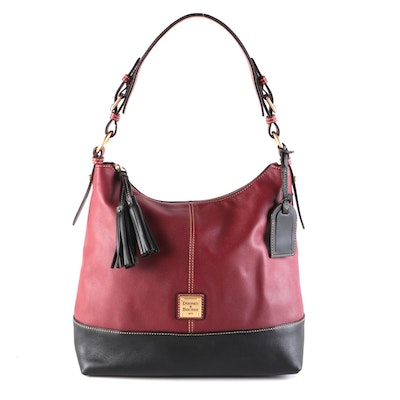 Dooney & Bourke Sophie Tassel Leather Hobo Bag with Coordinating Wallet
