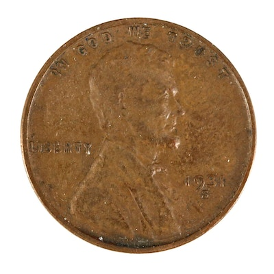 Key Date 1931-S Lincoln Wheat Cent