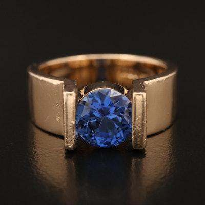 14K Sapphire Ring