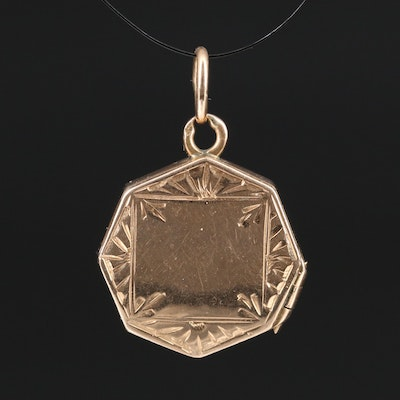 Vintage 14K Locket Pendant