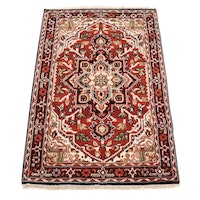 3' 10 x 6' Hand-Knotted Floral Wool Area Rug