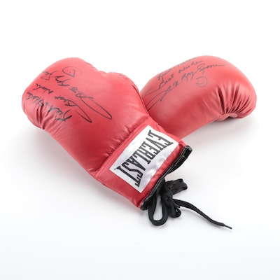 Hall of Fame Boxing Great Sugar Ray Leonard Signed Everlast Gloves, Late 20th C.