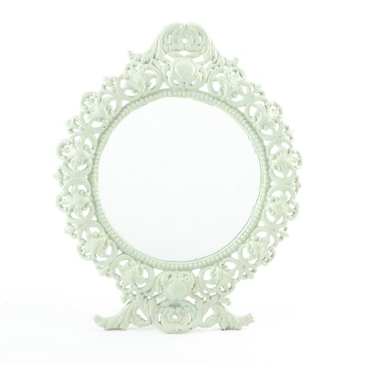 Victorian Style Painted Cast Iron Vanity Mirror, Early to Mid 20th Century
