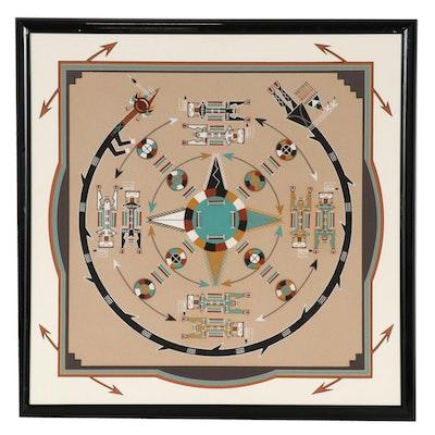 Navajo Style Sand Painting, 20th Century