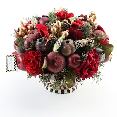 "MacKenzie-Childs ""Yuletide Manor"" Christmas Floral Centerpiece"