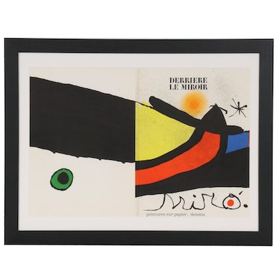 "Joan Miró Color Lithograph Cover for ""Derrière le Miroir,"" 1971"