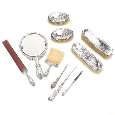 Gorham and Other Sterling Silver Handled Vanity Accessories, Antiques