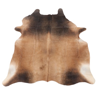 5'5 x 6'6 Natural Cow Hide Area Rug