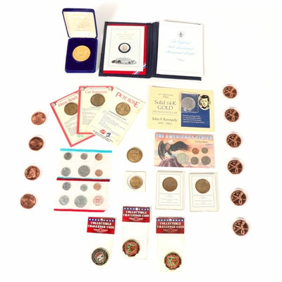 1971 U.S. Mint Set and Other Commemorative Tokens and Medals