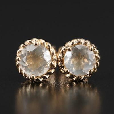 10K Feldspar Stud Earrings