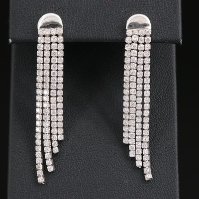 Sterling Cubic Zirconia Tassel Earrings