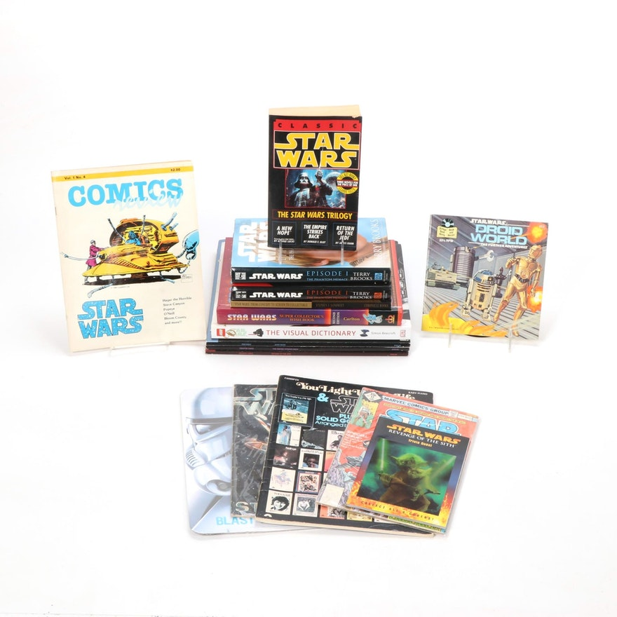 """Star Wars Books and Collectibles with """"Classic Star Wars"""" Signed Book"""
