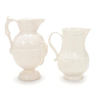 Worcester Kerr Binns & Co and Arthur Wood Shakespeare Ceramic Jugs