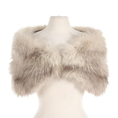 Fox Fur Shrug Capelet