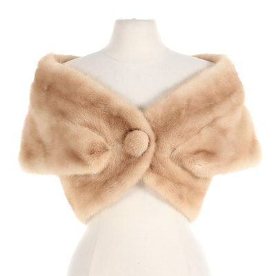 Couture Furs Blonde Mink Fur Shrug Capelet