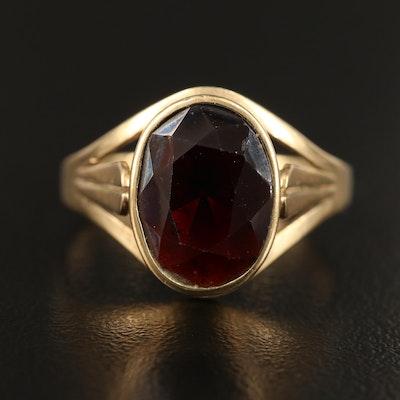 Vintage 8K Garnet Ring