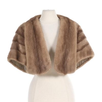Mink Fur Open Front Stole