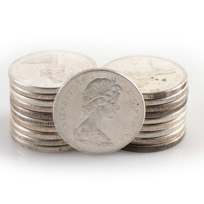 Twenty Silver Canadian Dollars, 1958–1967