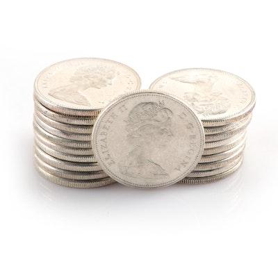 Twenty Silver Canadian Dollars, 1960–1967