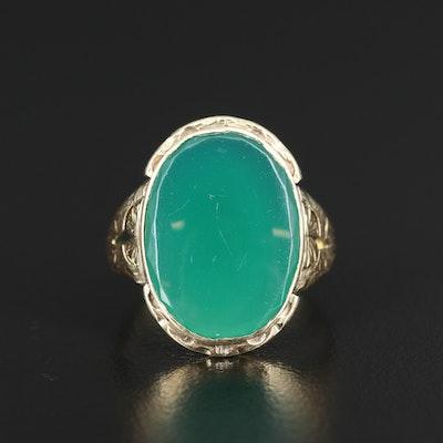 Antique Austro-Hungary 14K Chalcedony Ring
