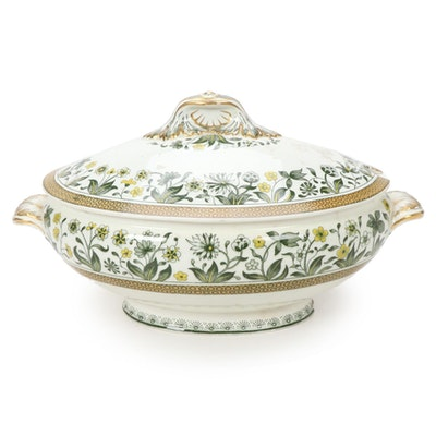 "Minton ""Lismore"" Lidded Tureen with Serving Dish, Mid 19th Century"