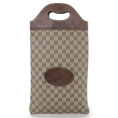 Gucci Tote Bag in GG Supreme Canvas and Leather