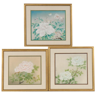 Japanese Floral Watercolor Paintings