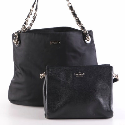 Kate Spade New York Black Shoulder Tote and Leather Crossbody