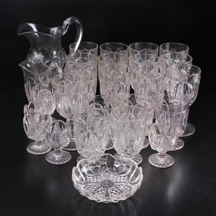 "Bryce ""Tulip"" Goblets and Glassware, 19th c."